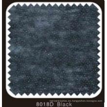 Interlineado Fusible doble no tejido negro del color DOT con el polvo del PA (8018D negro)