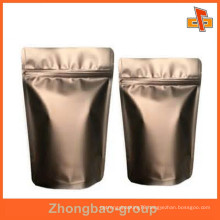 food grade excellent custom aluminum zipper tea bag wholesale