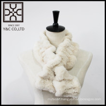 New design White Fake Fur Snood