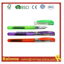 Pluma de plástico de color con cartucho de tinta