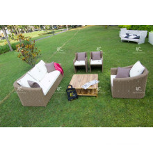 Modern Synthetic Poly Rattan Sofa Set For Outdoor Garden or Living Room