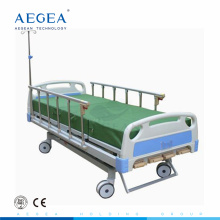 AG-BMS001B 4-part Steel headboards crank manual adjustable hospital metal medical bed