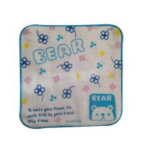 Essuie-mains carré à haute absorption, serviette carrée, serviette imprimée
