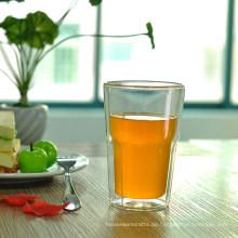 Octagon Doppelwandiges Trinkglas