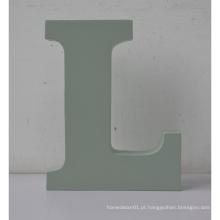 Letras de MDF Letra de alfabeto de madeira L usada para decoração de casa