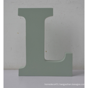 MDF Letters Wooden Alphabet Letters L Used for Home Decoration