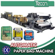 Ligne de production de sacs de soupape en papier à ciment multicouches à haute sortie