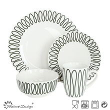 High Luxury Decal 16PCS Restaurant Dinnerware Set