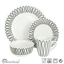 High Luxury Decal 16PCS Ensemble de vaisselle de restaurant