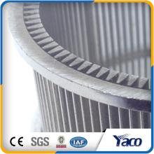 malla de filtro de malla redonda SS 304 malla de alambre johnson pantallas