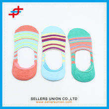 2016 Cotton/Polyester Invisible Colorful Stripe Ankel Socks
