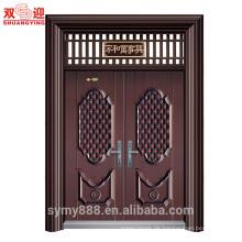 Kundengebundener Sicherheits-Eingangs-Doppeltür-purpurroter Ost-Echtheits-Kupfer-Sicherheits-dekorative Höhlenforschung