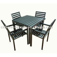 Plastic wood garden furniture