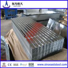 Material de construcción Z275 Acero corrugado galvanizado en caliente Acabado en chapa Fabricado y confiable