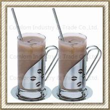 Xícaras de café irlandês de aço inoxidável