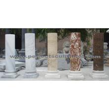 Камень Гранит песчаника Мраморная колонна для домашнего украшения (QCM0132)