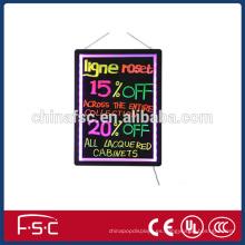 LED de señalización fluorescente luz caja para promoción y exhibición de la escritura
