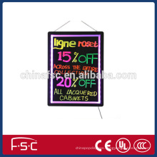 Led signage writing fluorescent light box for promotion and display