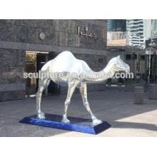 Большая статуя современных животных или художественная скульптура из нержавеющей стали