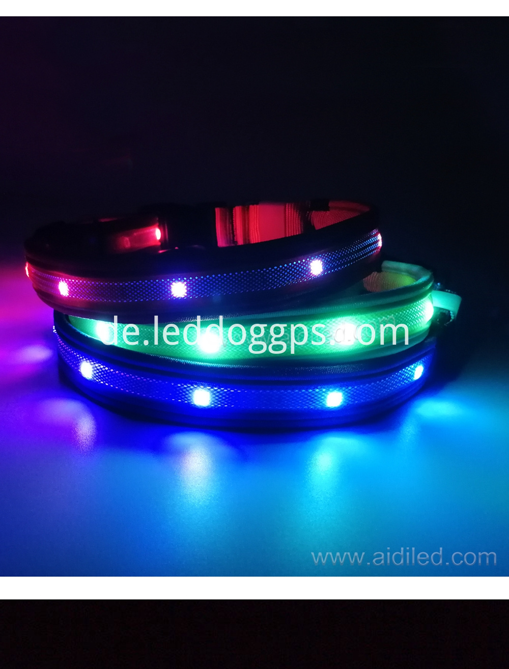 Led Rainbow Dog Collar