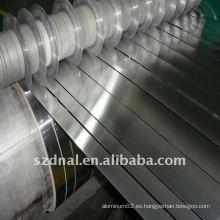 Tira de aluminio usada en la aleta y el disipador de calor
