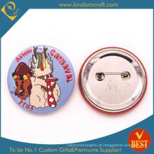 Emblema do botão do laço da lembrança do carnaval de China no impresso