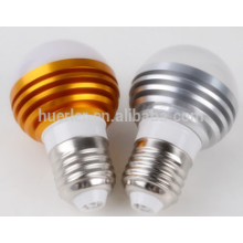 3leds led light bubs e26 / b22 / e27 3 watts e27 ampoule d'éclairage led