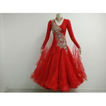 Bright red prom dress
