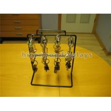 Design gratuit Cadeaux Store Racks d'affichage 8 Black 6Mm Wire Kooks Metal Countertop Keychain Display