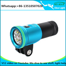 Deep dive led diving video rechargeable torch light camera
