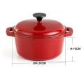 Enamel cast iron cookware-casserole