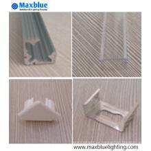 90 grados forma de l perfil de aluminio para la esquina de la joyería de iluminación LED
