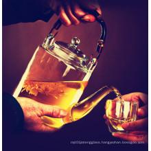 Classical Court Stype Water Juicer Glass Tea Pot Tea Kettle