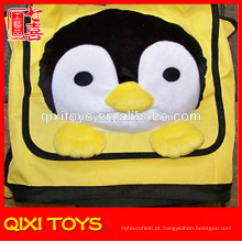 mochila de pinguim de pelúcia de crianças