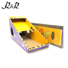 Multifunción Scratcher Cat Toy For Pets con interior para Cat Playing CS-2002