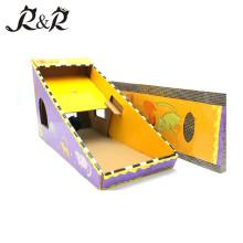 Brinquedo multifuncional do gato do risco para animais de estimação com interior para o gato que joga CS-2002