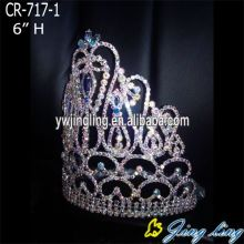 6 pulgadas AB Crystal Pageant Crown para la fiesta