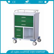 AG-GS006 Dark Green Medical Trolley