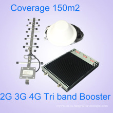 23dBm 2g / 3G / 4G de señal de teléfono celular de refuerzo, Tri Band Signal Repeater, Tri Band Amplificador de señal