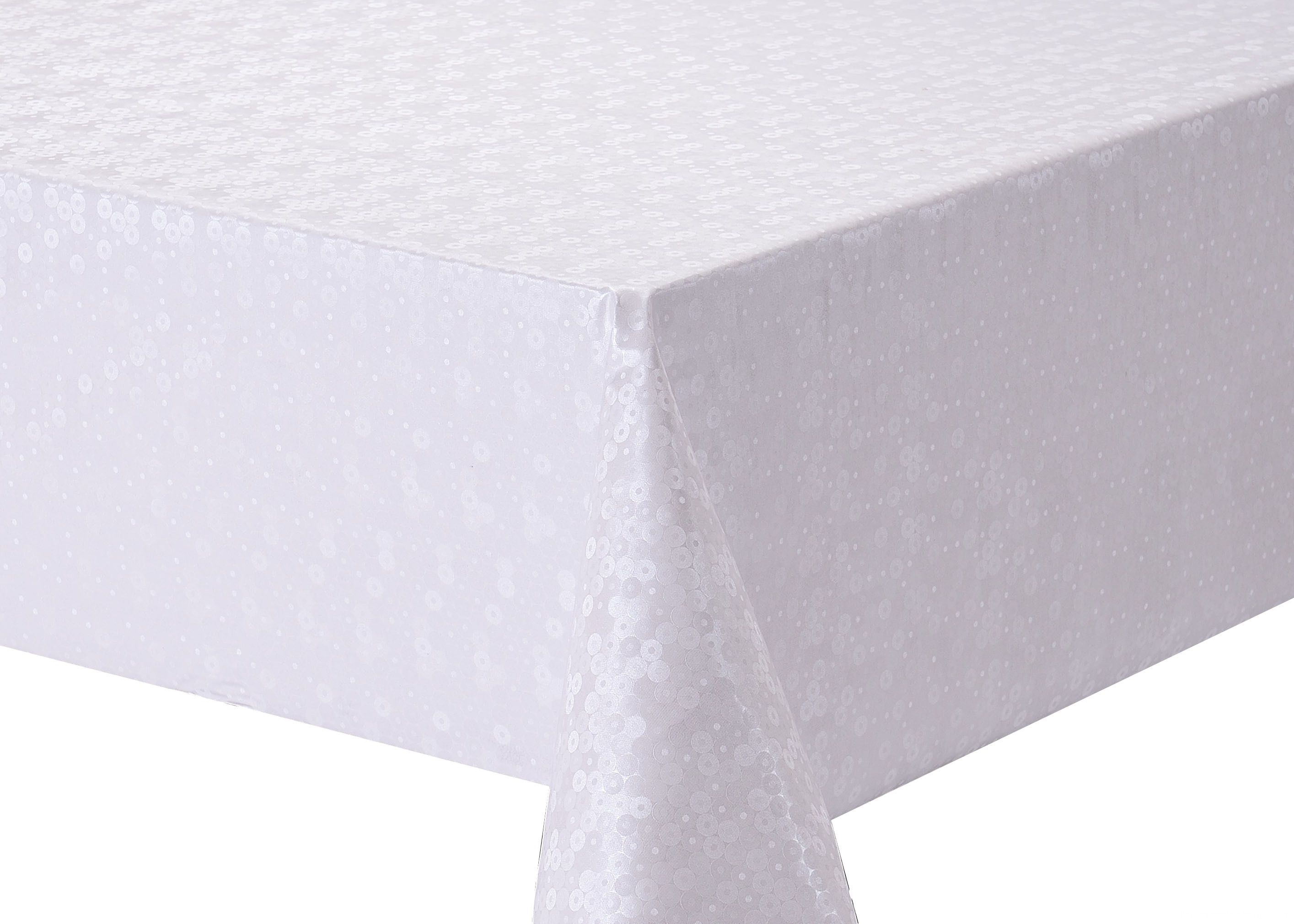 ELEGANT PEARLY TABLECLOTH