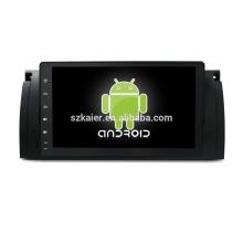 Quatro núcleos! Dvd do carro do andróide 6.0 para BMW E39 com a tela capacitiva de 9 polegadas / GPS / relação espelho / DVR / TPMS / OBD2 / WIFI / 4G