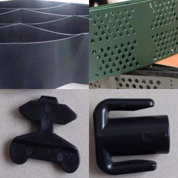 Geocelda de plástico suave y texturizada con poco peso