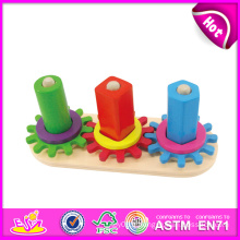 2014 Nouveau Enfants Engrenage En Bois Puzzle, Popualr Mignon Mini Enfants Gear Puzzle Jouet, Vente Chaude Bébé Engrenage En Bois Puzzle Set Jouet W13e041