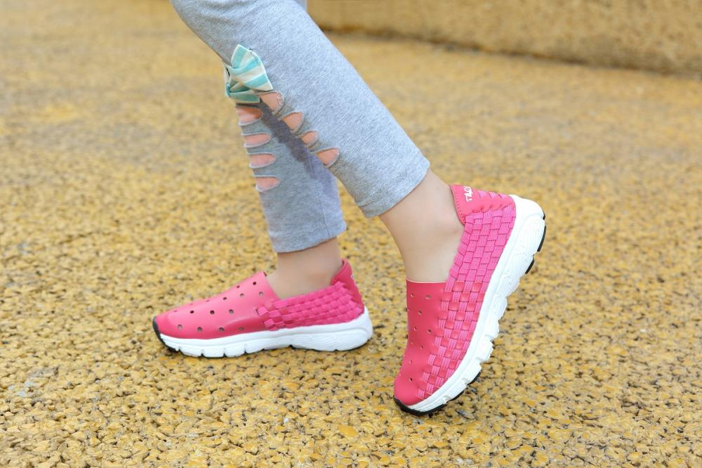 Girls Woven Sneakers Shoes-6