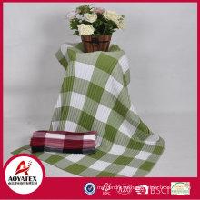 Manta tejida 100% acrílico multicolor de la tela escocesa barata vendedora caliente