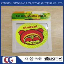 Promoción sonrisa cara luz PVC Pegatinas refletoras de luz