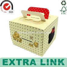 Kundenspezifisches Schweizer Rolleverpackungsentwurfsschalenpapierkasten, der Kuchenkasten mit Griff verpackt