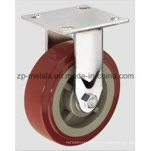 Rueda resistente de 4 pulgadas de la rueda de la rueda fija de la PU