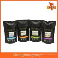 Material laminado Aceptar Bolsas de plástico selladas de encargo embalaje del café bolsas plásticas de la válvula