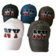 6 Panel gewaschen Baseball Caps mit Applique (6PWS1228)